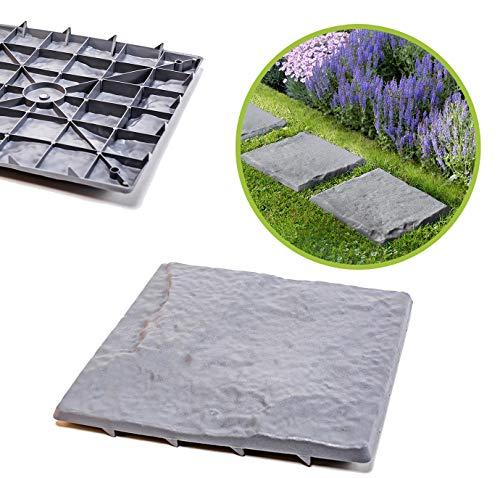 UPP Wegplatten in Stein-Optik I Gehwegplatten aus Qualitäts-Kunststoff I Mit unseren Gehwegplatten...