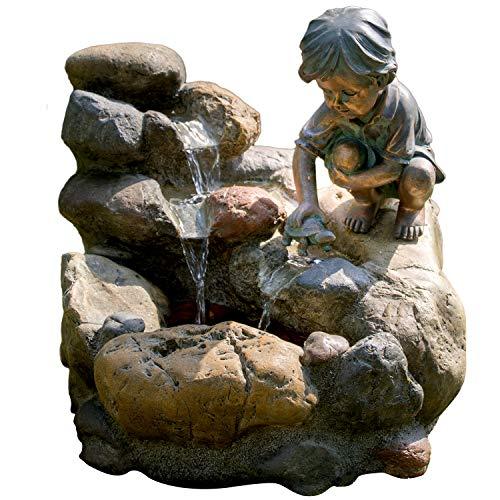 Köhko® Wasserspiel Kinderspiel Gartenbrunnen Springbrunnen Brunnen für Außen und Innen