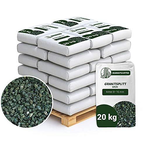Granitsplitt Deko Granit Splitt Gartenkies Buntkies Grau Fein 8-16mm Sack 20kg x 50 STK (1000kg)