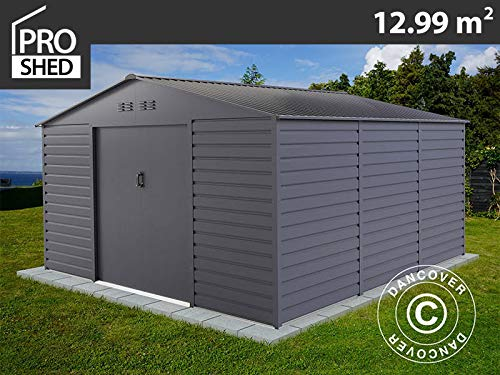 Dancover Geräteschuppen Metallgerätehaus 3,4x3,82x2,05m ProShed®, Anthrazit