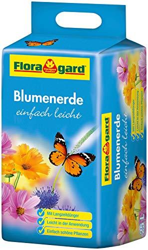 Floragard Blumenerde leicht 25 L - Universalerde für Zimmerpflanzen, Balkon- und Kübelpflanzen -...