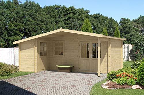 Alpholz Gartenhaus Nordkapp-40 B aus Massiv-Holz | Gerätehaus mit 40 mm Wandstärke | Garten...
