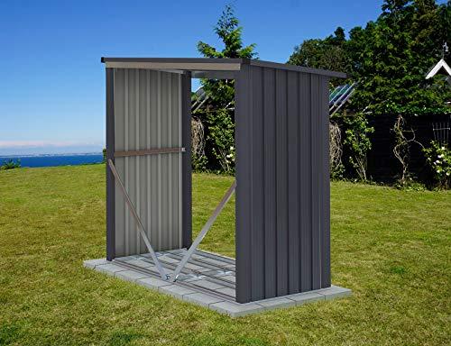 Dancover Holzlager 1,82x0,89x1,56m ProShed®, Anthrazit