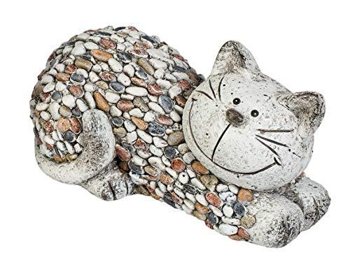 Deko Katze aus Magnesia, 32x 19 cm, wetterfest