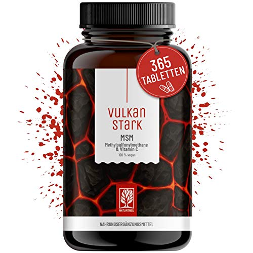 365 MSM Tabletten Hochdosiert - 2000mg MSM mit natürlichem Vitamin C aus Acerola - Vorrat für 6...