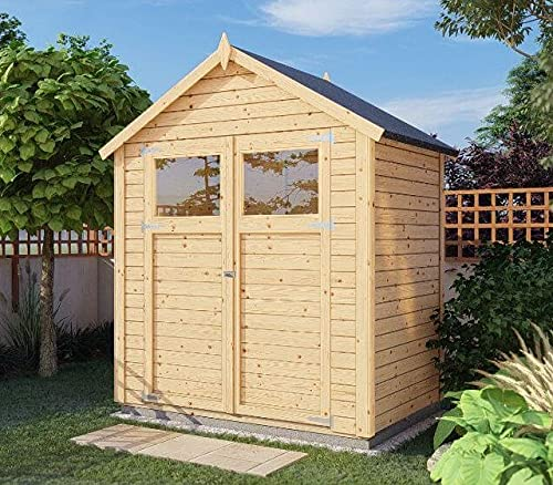 Alpholz Gerätehaus Alisha aus Fichten-Holz   Gartenhaus mit 14mm Wandstärke   Holzhaus inklusive...