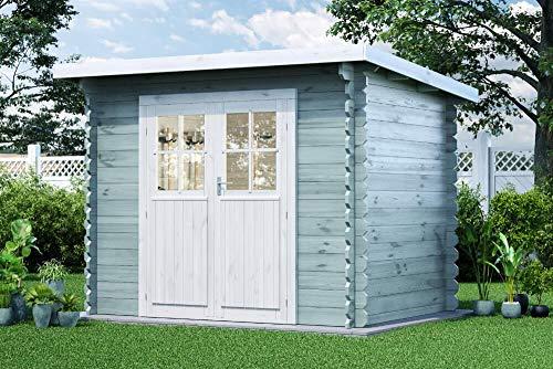 Alpholz Gartenhaus Korfu-28 aus Massiv-Holz   Gerätehaus mit 28 mm Wandstärke   Garten Holzhaus...