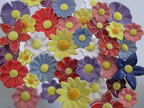 ROWE Deko Blumenset Ostern 10 Keramikblumen
