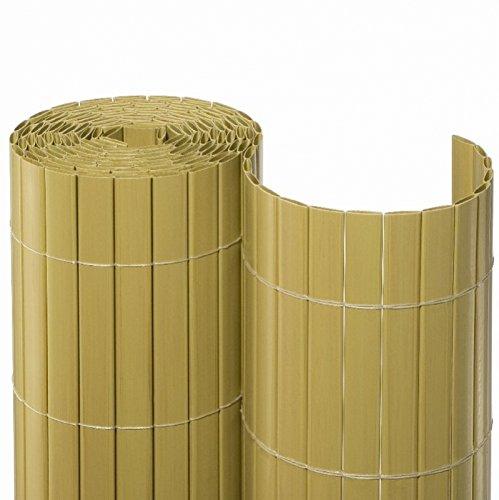 Nature-Lounge24 PVC Sichtschutzmatte - 100 x 500 cm Braun - Effektiver Wind und Sichtschutz /...