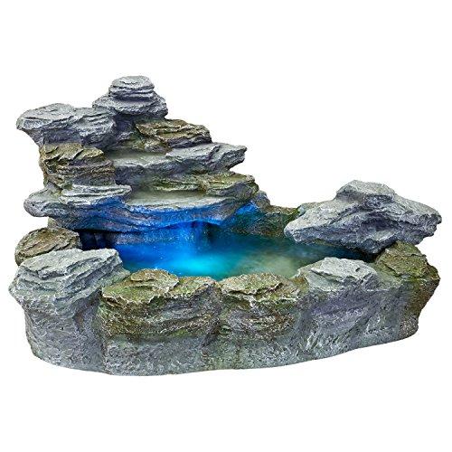 STILISTA Mystischer Gartenbrunnen Olymp Brunnen in Steinoptik 100x80x60cm groß Springbrunnen inkl....