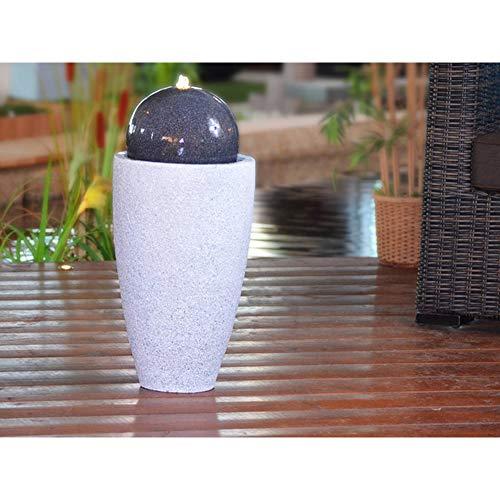 Heissner Gartenbrunnen Mocca LED (016810-09)