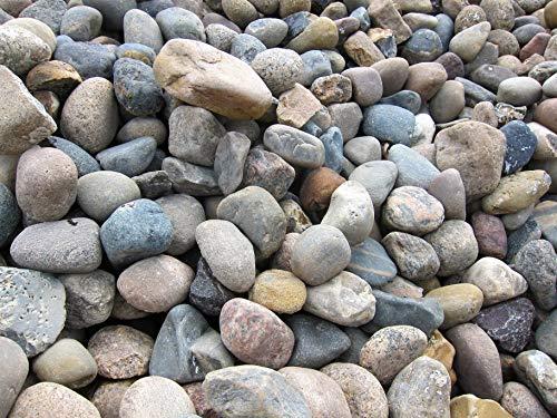 GABIONA Nordseekiesel Natursteine Bruch I Gabionen Steine zum Befüllen für Gabionenkörbe für die...