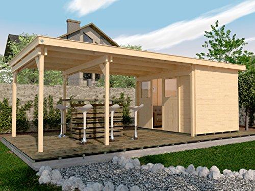 weka Lounge-Haus 225 B Gr. 1, natur, 21 mm, Schiebetür, Lounge 450 cm, ohne RW