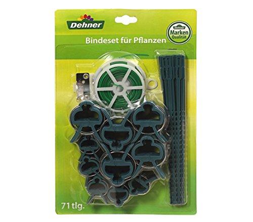 Dehner Pflanzen-Bindeset mit Bindedraht, Pflanzenbindern und verschieden großen Pflanzenclips