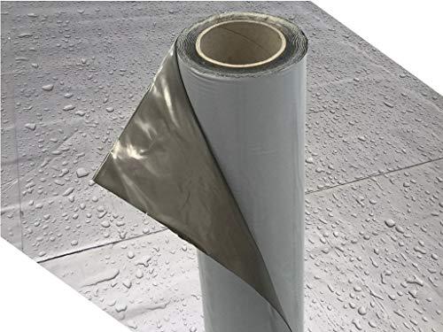 Demmelhuber Dachfolie KSK Aluminium selbstklebend grau 5 m² für Flachdachhäuser, Gartenhaus Dach,...
