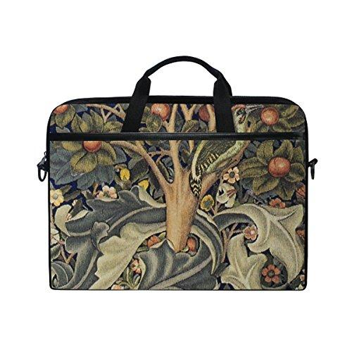 Ahomy 14 Zoll Laptoptasche Baum Obst Vintage Canvas Stoff Laptop Tasche Bussiness Handtasche mit...