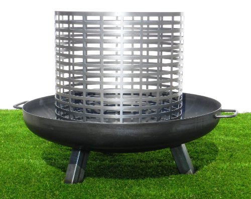 Feuerkorb für Feuerschale - zweiteilig, passend für alle Feuerschalen von STSOL (Ø: 650 mm - 160...