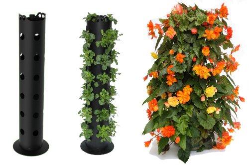 BALDUR-Garten GmbH Flower Tower®, Blumenturm, Pflanzenturm, Blumensäule 85 cm hoch