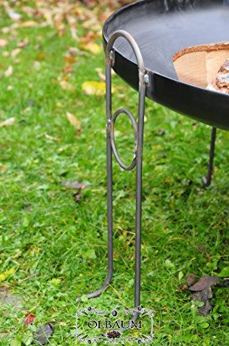 ÖLBAUM Feuerschale/Feuertopf, Stabile Grosse XXL Premium-Feuerschale ca. 60 cm Feuerstelle...