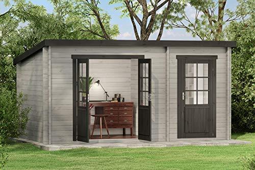 CARLSSON Alpholz Gartenhaus Maria aus Massiv-Holz   Gerätehaus mit 28 mm Wandstärke   Garten...