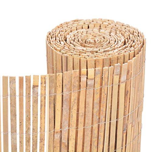 Festnight Bambus Dekorativer Gartenzaun Bambuszaun Gartendekor Zaun 1000 x 50 cm