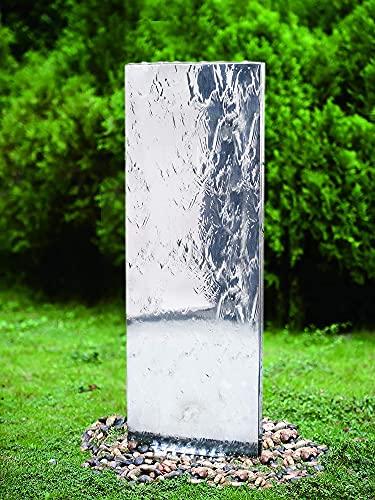 Köhko Wasserwand 23016L mit LED-Beleuchtung Höhe ca. 120 cm aus Edelstahl Wasserspiel...