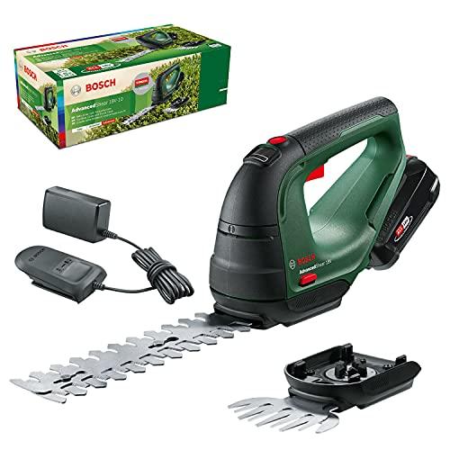 Bosch Akku Grasschere AdvancedShear 18V-10 (1 Akku 2,0 Ah, 18-Volt-System, schneidet bis zu 85 m²...