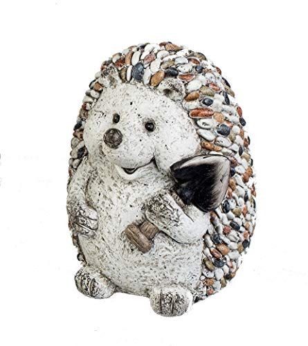 formano Gartenfigur Igel mit Spaten Dekofigur Tierfigur in Kieselstein-Optik aus wetterfestem...