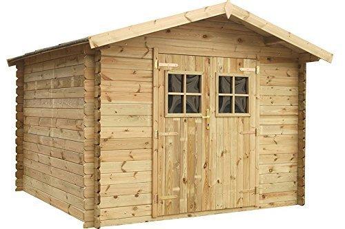Fonteyn Gartenhaus/Blockhütte Alicia Satteldach 400 x 300 cm Hochdruck-Imprägniert