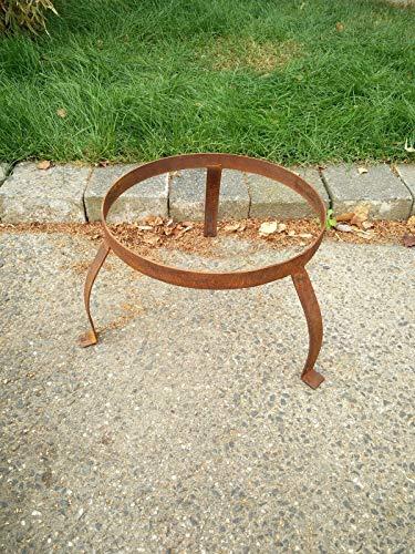 Zen Man Garten Rost Ständer für Feuerschale Pflanzschale aus Metall Rost d=35cm