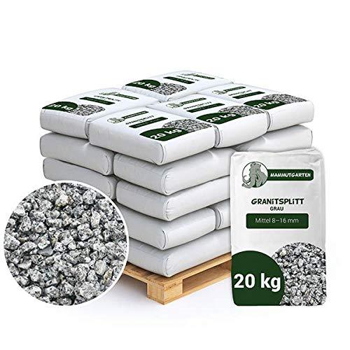 Granitsplitt Deko Splitt Gartenkies Buntkies Grau Fein 8-16mm Sack 20kg x 37Stk (740kg)
