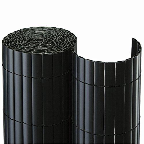Nature-Lounge24 PVC Sichtschutzmatte -100 x 500 cm Grün - Effektiver Wind und Sichtschutz /...