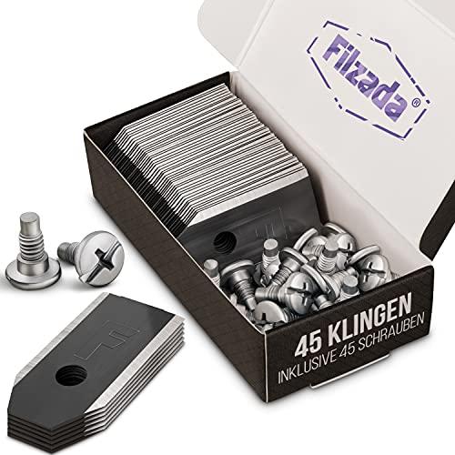 Filzada® 45x Titan Messer BLACK geeignet für alle Husqvarna Automower/Gardena Mähroboter -...
