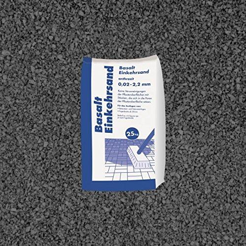 Hamann Mercatus GmbH Basalt Einkehrsand Anthrazit 0,2-2,2 mm 25 kg Sack - Zur dekorativen...