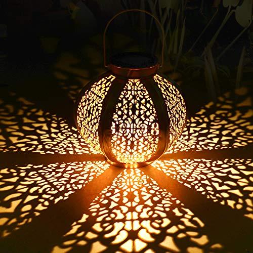 Solarlaterne für außen,Tencoz Solarlampe für Außen Gartendeko Solar Gartenlaterne LED Garten...