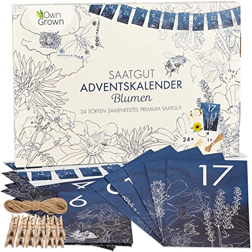 Saatgut Adventskalender 2021: Nachhaltiger Blumen Samen Adventskalender 2021 – Adventskalender...