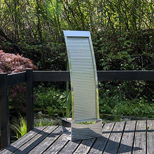 Köhko Terrassenbrunnen 23013 aus Edelstahl Höhe ca. 110 cm Wasserspiel Gartenbrunnen mit...
