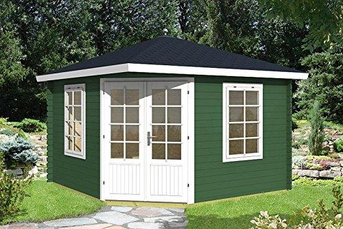 Gartenhaus ARUBA 40 Blockhaus Holzhaus 350 x 350 cm - 40 mm Ferienhaus Schuppen