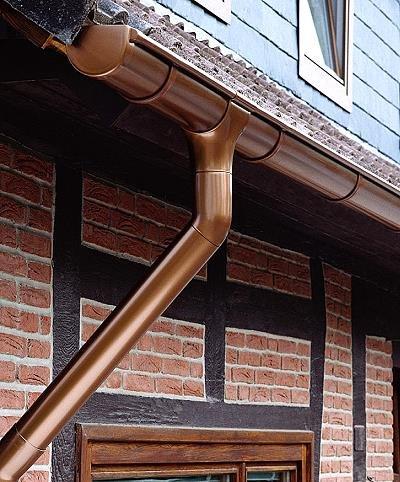 Dachrinne Rinnensatz Regenrinne KUPFERFARBEN 2x500cm KOMPLETT Carport Gartenhaus