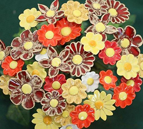 ROWE Deko Blumenset 20 Keramikblumen Sommer Valentinstag Geschenkset