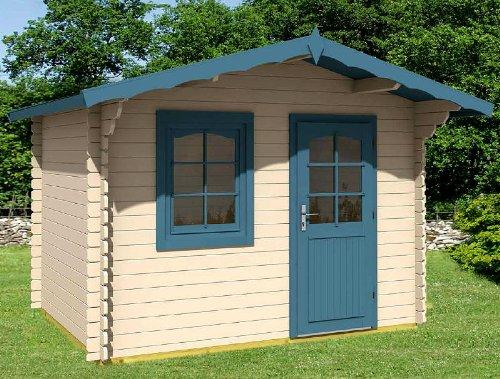 Gartenhaus MONIKA - A28 Blockhaus Holzhaus Schuppen 320 x 200 cm - 28 mm