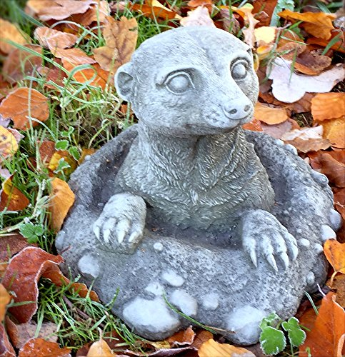 Antikas - Erdmännchen - Rasen Deko Tierfiguren Steinfiguren Garten Dekoration, wetterfest