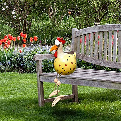 Keramik Huhn Gartendeko, Tierfigur Gartenstecker Keramikfigur Handarbeit Ornament, Gartendeko Huhn...