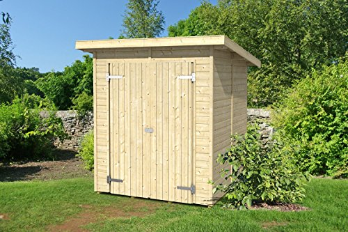 Gartenhaus G115 inkl. Fußboden - 14 mm Elementhaus, Grundfläche: 2,90 m², Pultdach