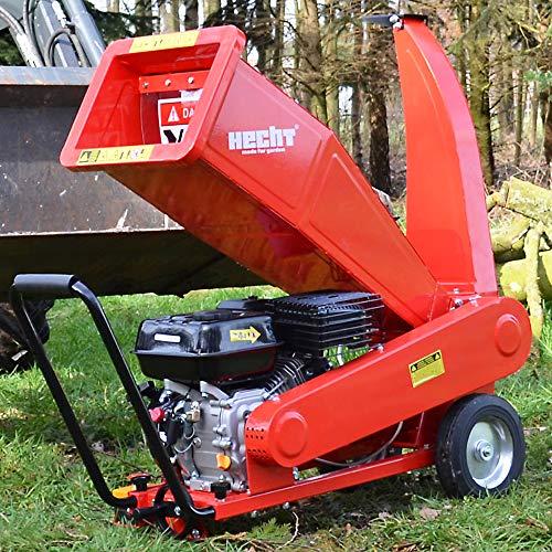 Hecht Benzin Häcksler mit kraftvollen 7,0 PS 4-Takt Motor und 208 ccm - ideal für dickes und...