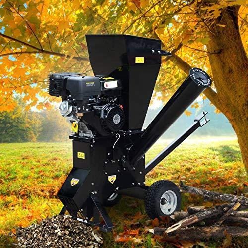 BRAST Benzin Häcksler Gartenhäcksler 11kW (15PS) 420ccm Deichsel 22 Messer extra große Räder...