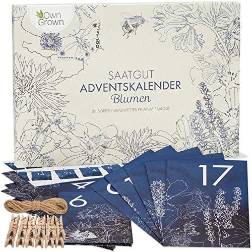 Blumen Adventskalender 2020: Nachhaltiger Garten Adventskalender mit Blumensamen – Schöner...