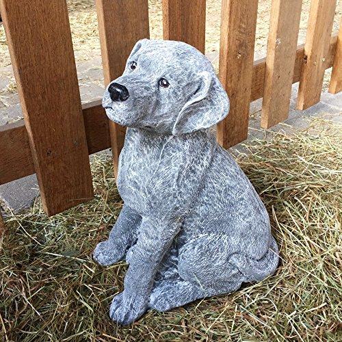 Antikas - Steinfigur Hund Labrador Figuren Garten Tiere Dekoration Tierfiguren frostfest