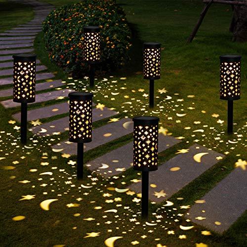 Solarleuchte Garten GolWof 6 Stücke Solarlampen für Außen LED Solar Gartenleuchte Solar...