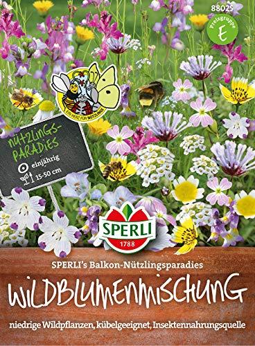 88025 Sperli Premium Blumenmischung Samen Nützlingswiese Balkon | Niedrigwachsend | Wildblumen |...